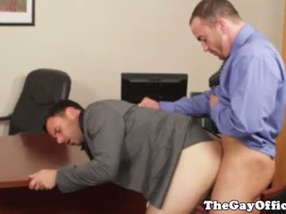 Office hunks in suit hardcore anal fuck