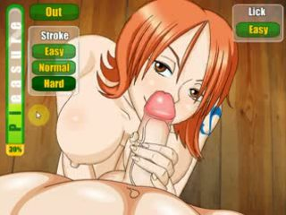 Nami sucking and fucking on boat (One Piece)