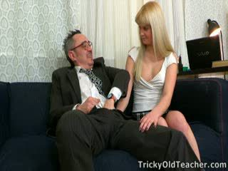 Tricky old teachers are expert at getting into their students' panties. This is no exception
