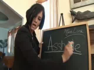 Brunette pornstar DP