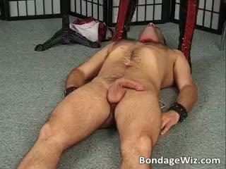 Tied guy fucks jego pani ciasne mokre part1
