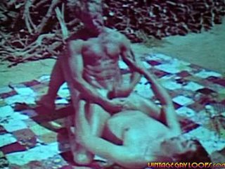 Profundo throat y deeper anal entre two bien hung hippies