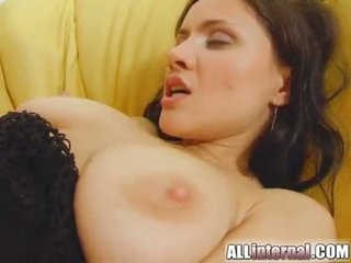 All Internal Laura fucks a stud and gets her lovehole filled