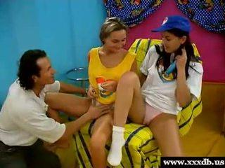 Teen: Horny Dutch Girl 3some