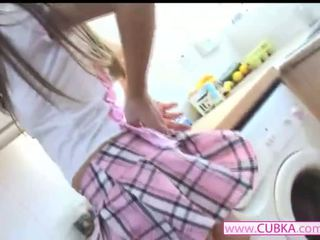 Nice school girl fingering her self