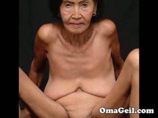 Omageil groot collectie oud grannies en senior vrouw