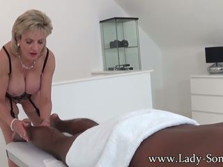 Lady Sonia Black Guy Massage with Happy Ending: HD Porn 88