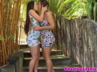 Real Lesbian Girlfriend Licking Pussy Outdoors