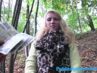 PublicAgent Young blonde taken into th...