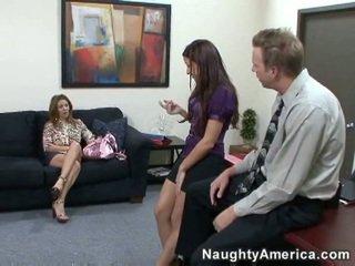 Wife walks in on her husband & secretary.