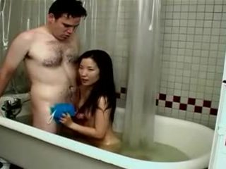 Small Cute Asian Chick Fucked in the Bath