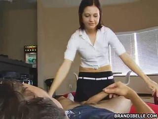 tiener sex, cfnm, geklede vrouw naakte man