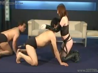 Aya Mistress who Makes Two Slaves to Compete: Free Porn 3e