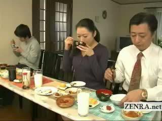 Subtitled बिज़ार जपानीस bottomless नहीं पॅंटीस परिवार