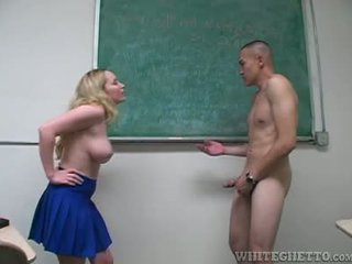 Aiden Starr Takes Care Of 2 Perverts In Her School Classroom