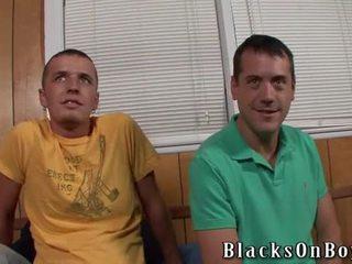 Two putih boys dan satu blacksome kontol
