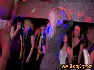 Strippers get naked at cfnm party and really get active