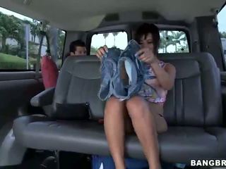 Amateur cutie fucks on bangbus