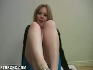 Mistress Cummy Feet Cuckold Footjob Tease
