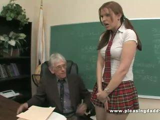 Murid fucks teruk lama guru kepada lulus kelas