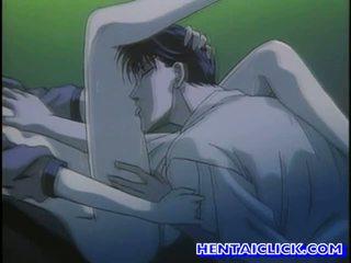 Virgin hentaï guy getting son bite sucked