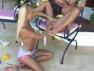 μουνί licking, λεσβίες, girl on girl