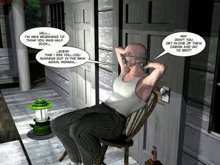 shemale, karikatury, 3d comics