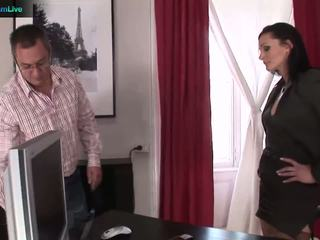 Businesswoman cameron gets che cosa lei wants da repairman