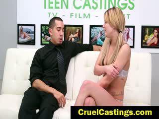 Abby paradise amarradas loira para casting