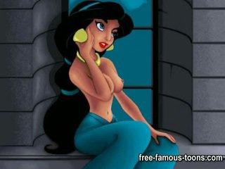 Aladdin и jasmine порно пародия