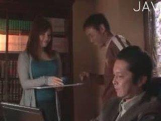 verklighet, japansk, stora bröst