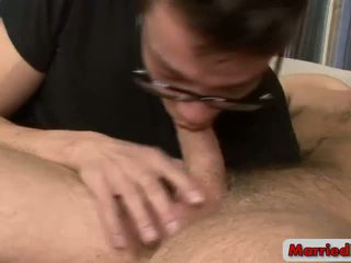 Four-eyed Gay Guy Blows a Married Man