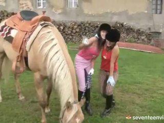 Fuckfest į the stables