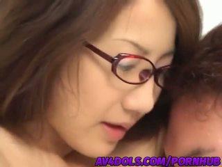Csintalan ázsiai iroda hölgy rina hasegawa gets banged kemény -ban a szünet szoba