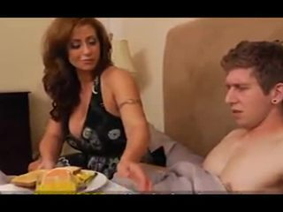 Eva Notty Brings Sonss Friend Breakfast In Bed And Has Sex With Him
