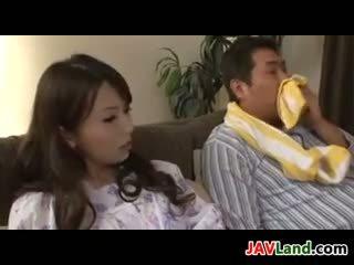 Lepo japonsko gospodinja having seks