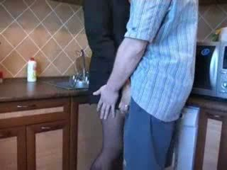 Hot Mom Fucked In Kitchen After Her Hu...