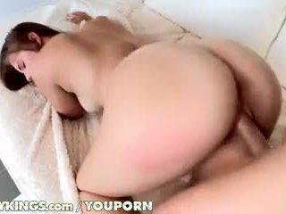 brunette, deepthroat, blowjob