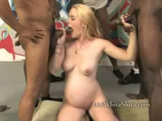 nine months white girl interracial Gan...