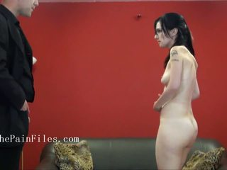 Riding crop spanking of sexually dominated Fae