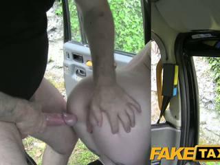 FakeTaxi Scottish lass rides big cock
