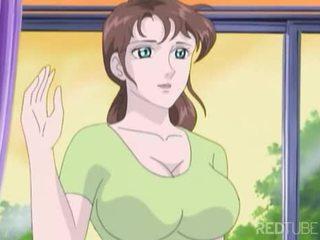 Rondborstig manga meisje taken door nerd