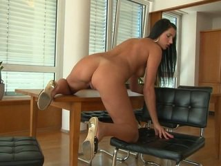 brunette, hardcore sex, how play with cock