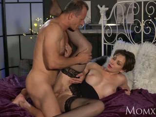 MOM Office woman in stockings wants rock hard cock deep inside her