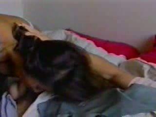Veronica in een heet porno film met haar partner