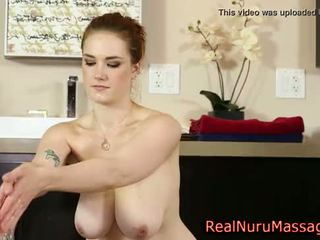 Busty nuru masseuse jizz