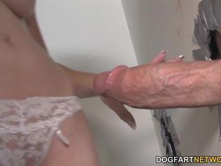 Mae Meyers gets Creampied by Big Dicks - Gloryhole: Porn 79