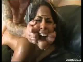 brünett, blowjob, ladina