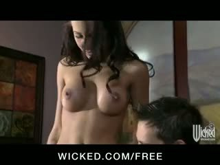 Amia Miley - Young hot brunette colleg...