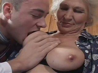 nenek, alam besar payudara, stoking